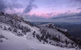 Картинка зима, небо, гора