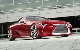 Обои машина, Concept, Lexus, вид спереди, LF-LC