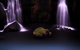 Обои вода, природа, камень