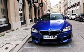 Картинка спорткар, BMW, синий, sportcar, turbo, germany, купе