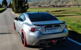 Обои Marangoni, задок, тойота, Toyota, Eco Explorer, поля, GT86-R