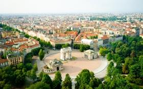 Обои деревья, город, здания, Италия, trees, Italy, buildings