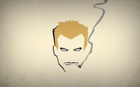 Картинка минимализм, сигарета, Константин, blo0p, Constantine