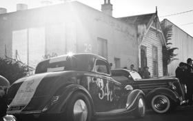 Картинка клуб, Классика, автомобили, чёрно белое, стиль