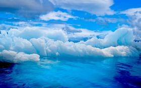 Обои вода, океан, ледники