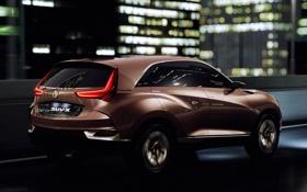 Обои Acura, Concept, машина, SUV-X, ночь, огни