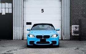 Картинка BMW, Тюнинг, Бумер, БМВ, Голубой, Фары, Tuning