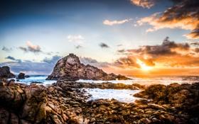 Картинка камни, океан, скалы, берег, Western Australia, Eagle Bay