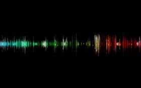 Картинка музыка, волна, дорожка, аудио, звуковая, вибрации