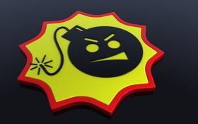 Обои бомба, логотип, серьезный сэм, Serious sam