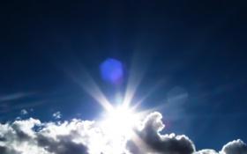 Картинка облака, свет, природа, небо. солнце. лучи