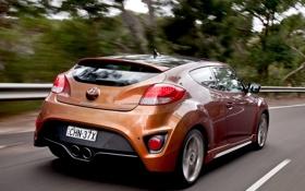 Обои Hyundai, Turbo, дорога, авто, Veloster, скорость