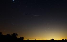 Картинка комета, метеоры, Аргентина, ориониды, Галлея