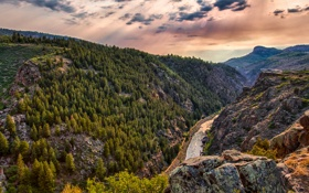 Картинка пейзаж, горы, природа, каньон, Colorado, Black Canyon, by the Blue Mesa Reservoir