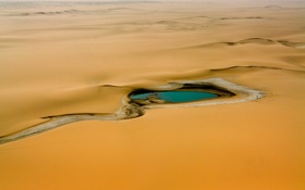 Обои пустыня, оазис, Sahara, Aïr Mountains, Niger, Африка, Сахара