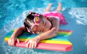 Обои настроение, девочка, басейн