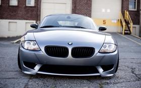Картинка бмв, BMW, перед, silver, серебристая