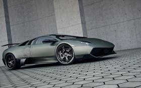 Картинка череп, Lamborghini, аэрография, Автомобиль