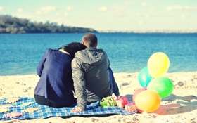 Обои шарики, берег, пара, фотограф, photography, photographer, Elena Umrihina