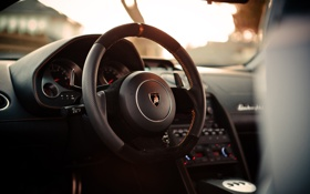 Обои Lamborghini, приборы, руль, Gallardo, 2012, салон, SR Auto Group