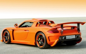Картинка Konigseder, orange, Carrera GT, Porsche, supercar