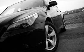 Обои BMW, Black, E60, 5-er