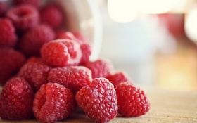 Обои малина, ягода, красная