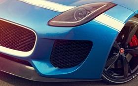 Обои Concept, макро, Jaguar, фара, ягуар, перед, Project 7