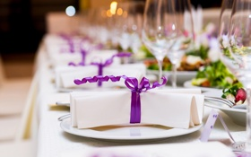 Обои свадьба, боке, wedding, table