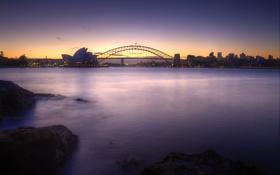 Картинка закат, Австралия, Сидней, sunset, Australia, Sydney, Opera House