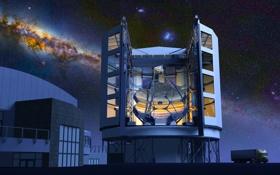 Обои небо, зеркала, Гигантский Магелланов телескоп