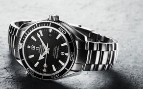 Обои часы, omega, time, Seamaster