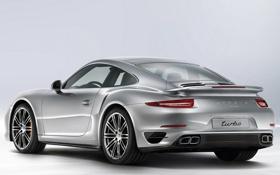 Картинка авто, фон, обои, 911, Porsche, Turbo, задок