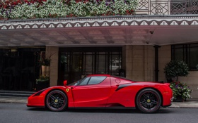 Обои Красная, Ferrari, Enzo