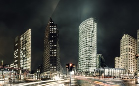 Обои Germany, panorama, Berlin, Potsdamer Platz