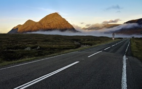 Обои scotland, ballachulish, дорога, пейзаж