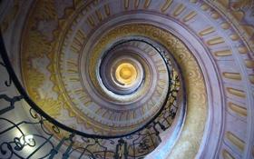 Обои Спираль, лестница, тунель