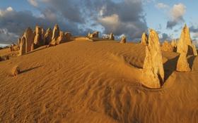 Картинка песок, камни, пустыня
