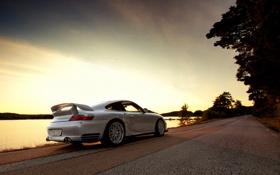 Картинка дорога, Porsche, задом, GT2 Clubsport 9ff