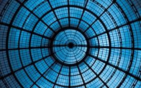 Обои metal, glass, blue, effect, ceiling