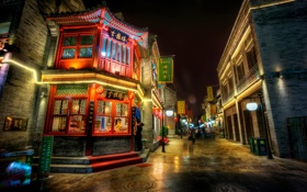 Beijing, China, Пекин, Китай, улица, фонари обои