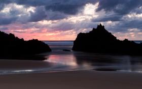 Обои море, вода, скала, камни, океан, скалы, берег