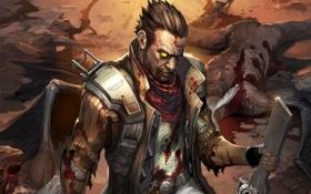 Картинка Кровь, мутанты, шрамы, NeverDead, Blood, Bryce Boltzmann