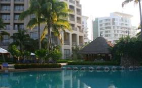 Картинка бассейн, отель, город, обои, путешествие, природа, остров Хайнань