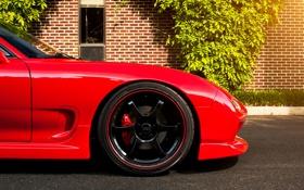 Обои red, Mazda, диск, блик, красная, мазда, RX-7