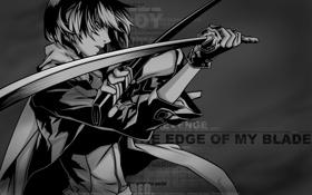 Обои обои, черный, меч, аниме