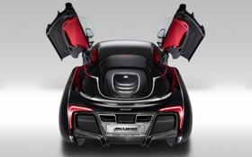 Картинка Concept, фон, McLaren, двери, концепт, суперкар, вид сзади