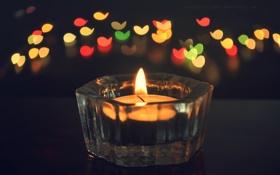 Картинка огонь, свеча, свечка