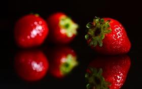 Картинка клубничка, ягода, красивая, красная, вкусная