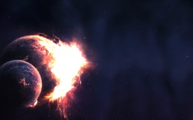 Обои космос, звезды, планеты